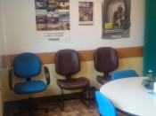 Cadeiras confortáveis.